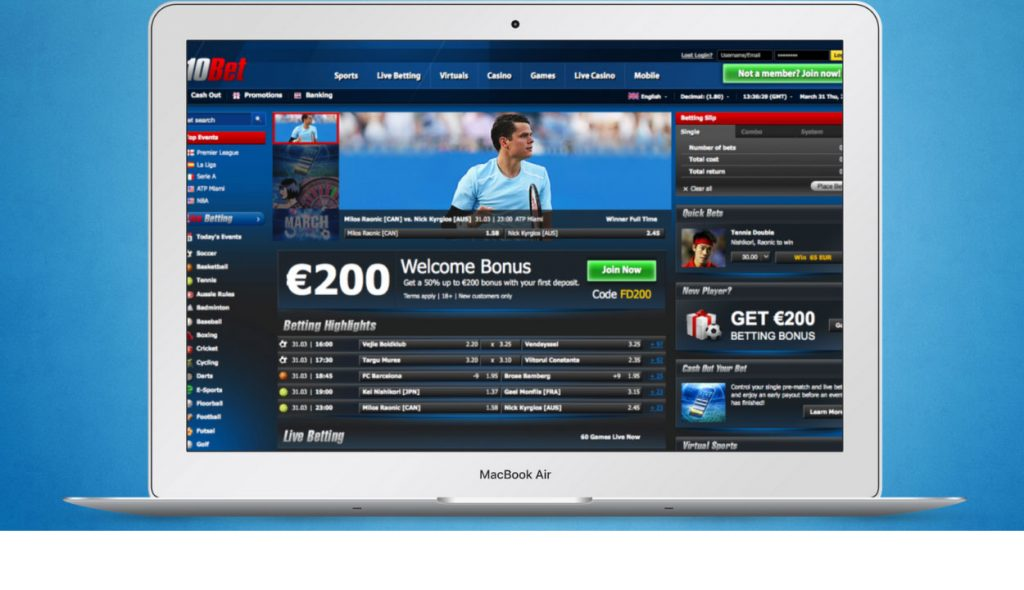 10Bet betting platform