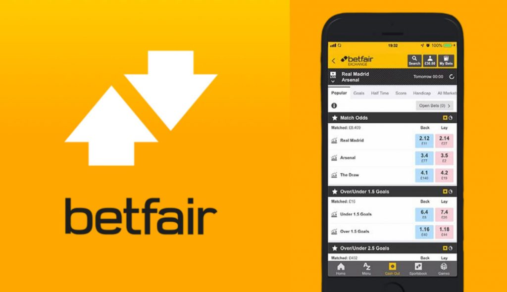 Betfair live betting options of various games