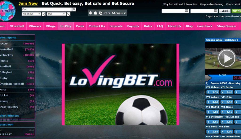 LovingBet online sports betting